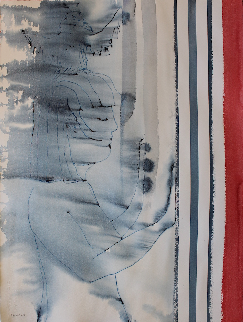 Lilmarie Mellberg Måleri  Akvarell 56 x 76 cm utan ram 3 500 kr lilmarie.se