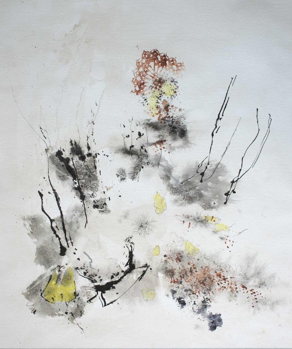 Lynn Gustafsson Måleri | Akryl på akvarellpapper 54 x 44 cmbildstorlek 68 x 60 cm med passepartout 5 500 kr