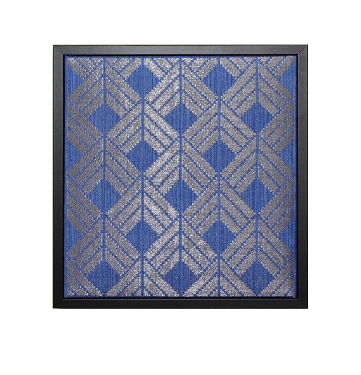 Gudrun Söderholm Textil |Damastväv i lin och rostfritt stål H27,5 x B26,5 x D4,5 cm 4500 kr konsthantverkscentrum.org