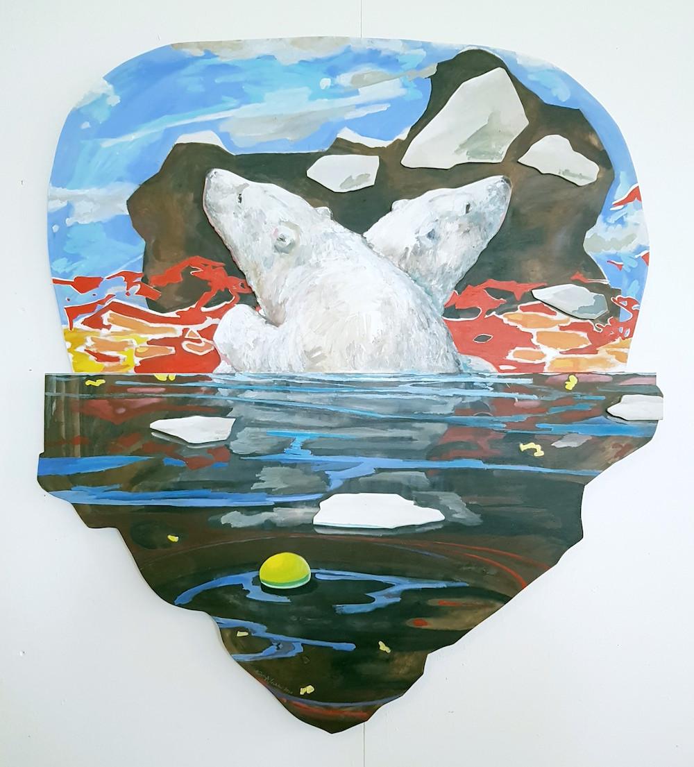 Kristina Nilsdotter Relief | Vinyl på kontursågad MDF B 108 x H 120 x D 3 cm 22 000 SEK (+ frakt 11 kg) kristinanilsdotter.se