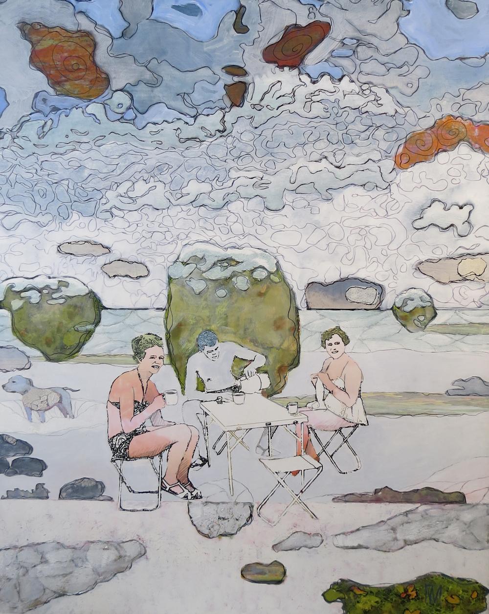 Urban Wikberg Mixed media|Fine Art Print på canvas och måleri 80 x 100 cm 18 000 kr urbanwikberg.se