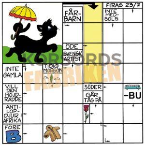 77-4 Svart katt med parasoll KRYSS