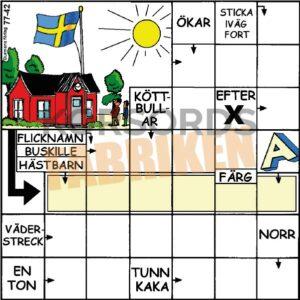 Korsord 77-42 Flagga KRYSSET