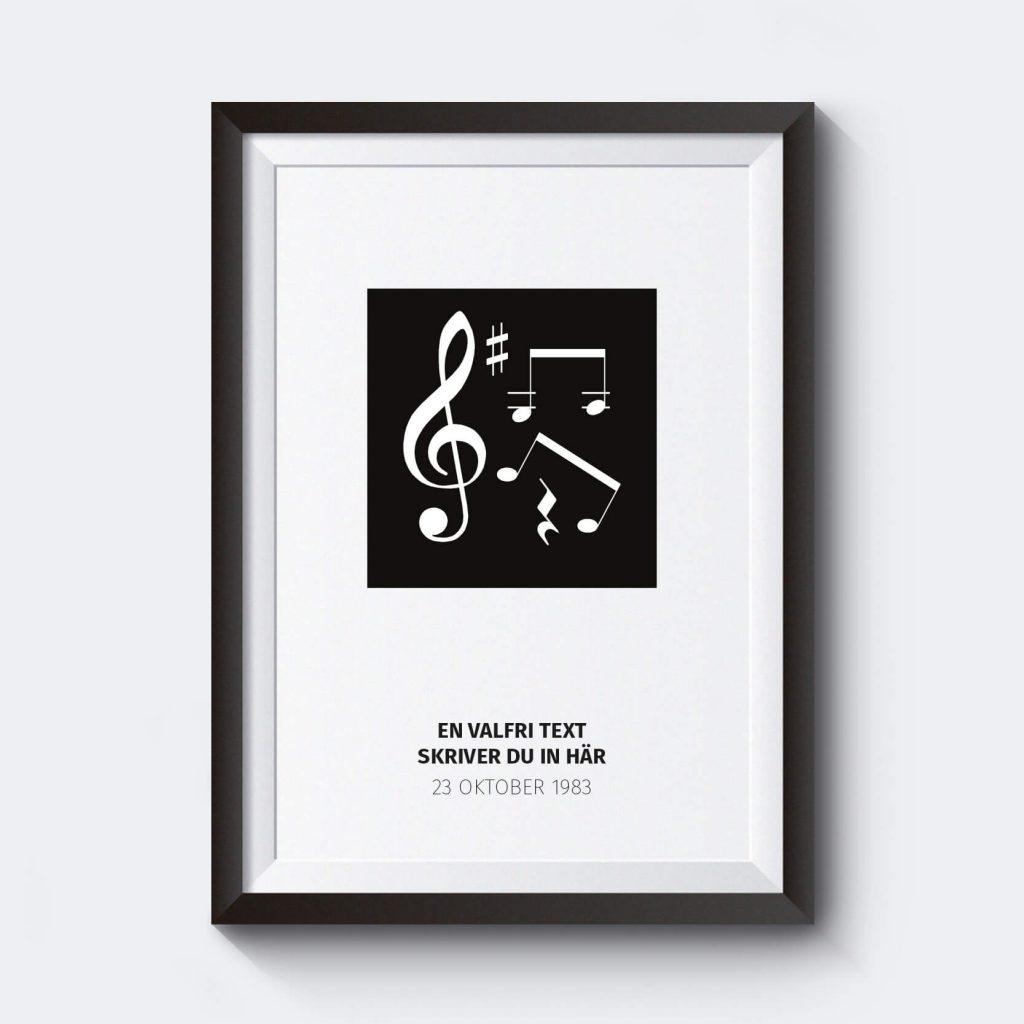ga-bort-present-noter-svart-affisch