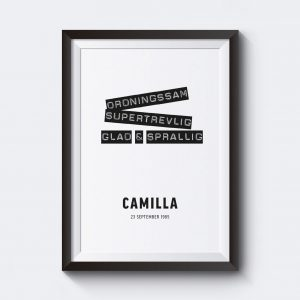Personliga posters text