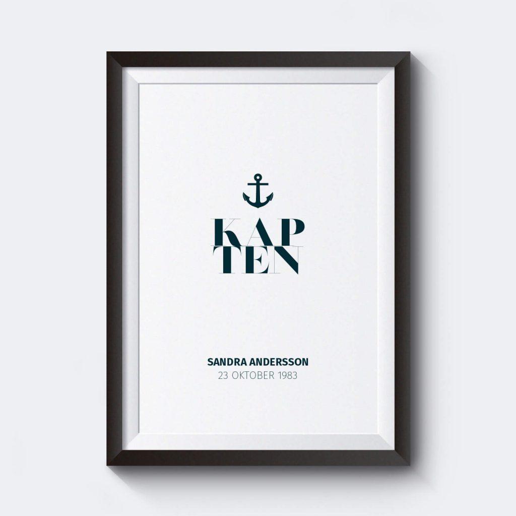 personliga-posters-kapten-bla-affisch
