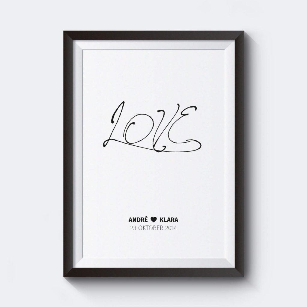 snygga-affischer-personlig-love-helt-enkelt-svart-poster