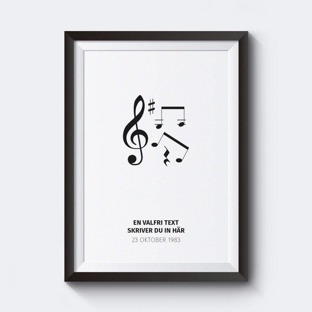 stora-tavlor-personliga-posters-noter-vit-affisch