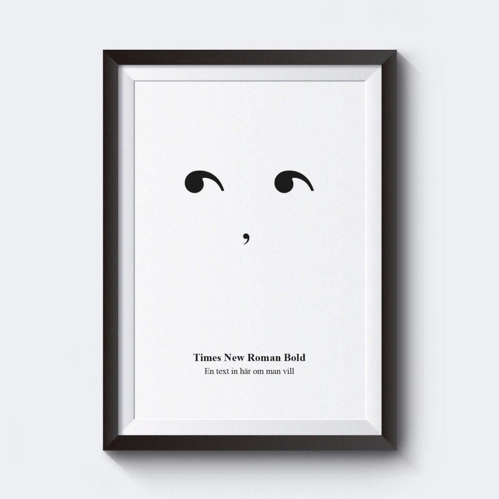 personlig-poster-citationstecken-times-new-roman