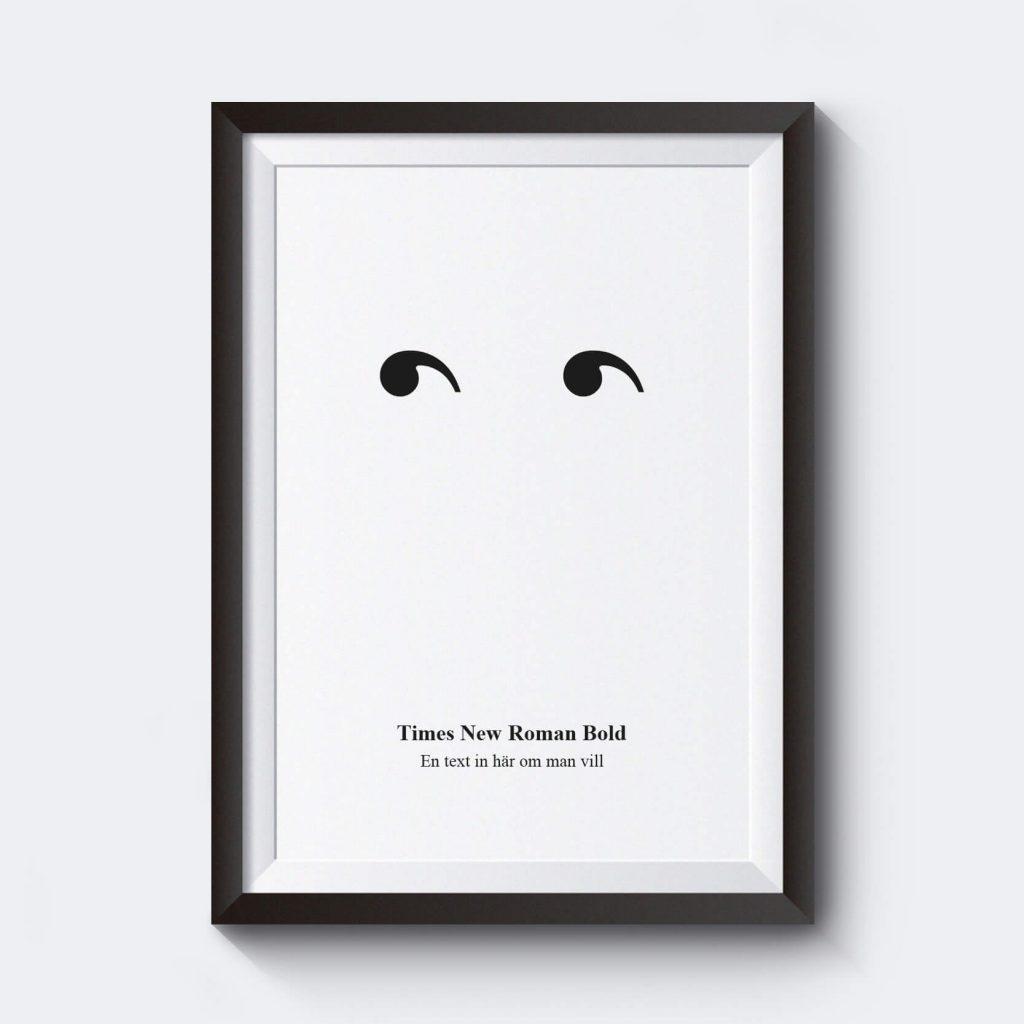 personlig-poster-citationstecken-utan-nasa-times-new-roman