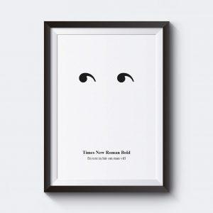Personlig poster med ögon skriv in egen text