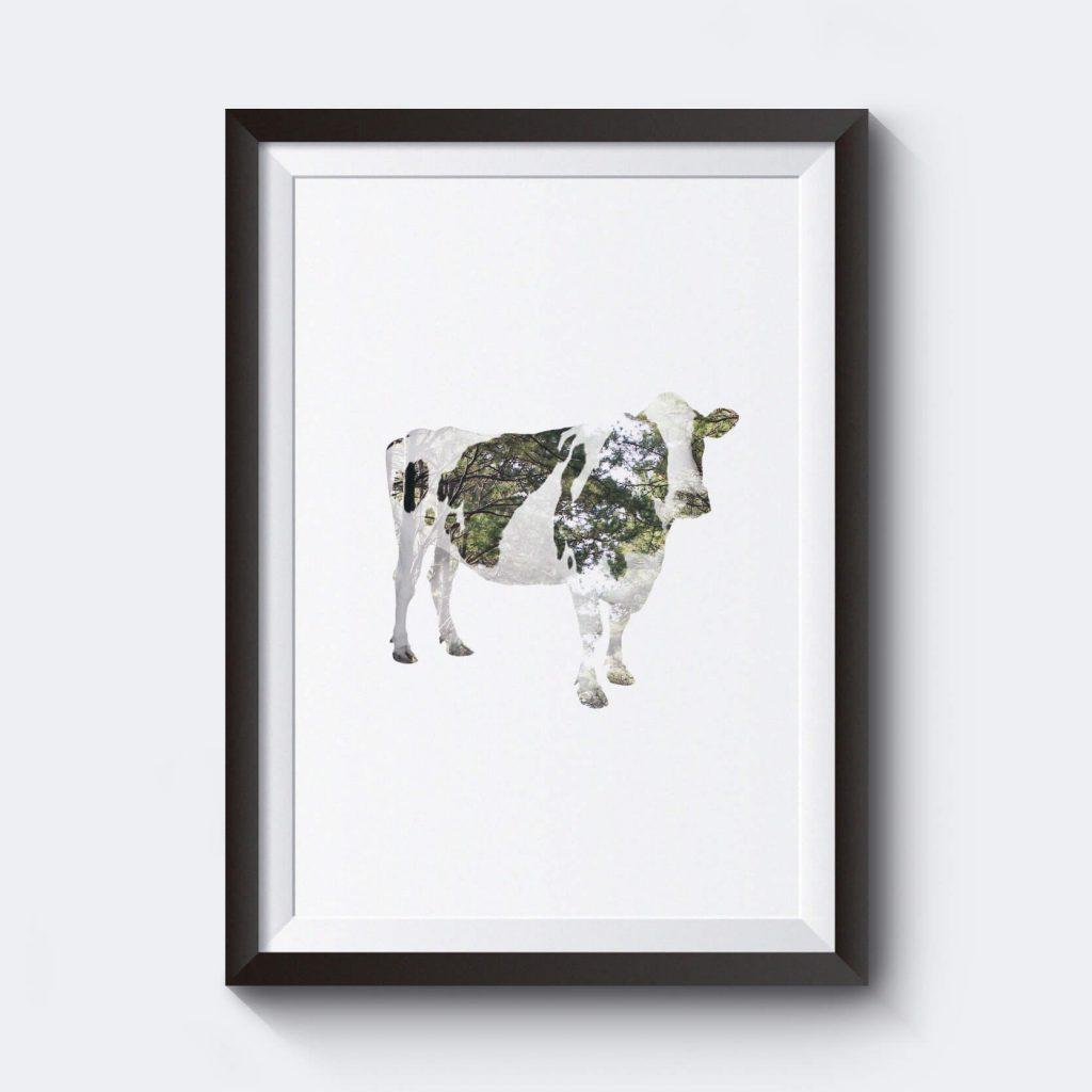 billig-poster-affisch-prints-motiv-ko-kossa-i-skog
