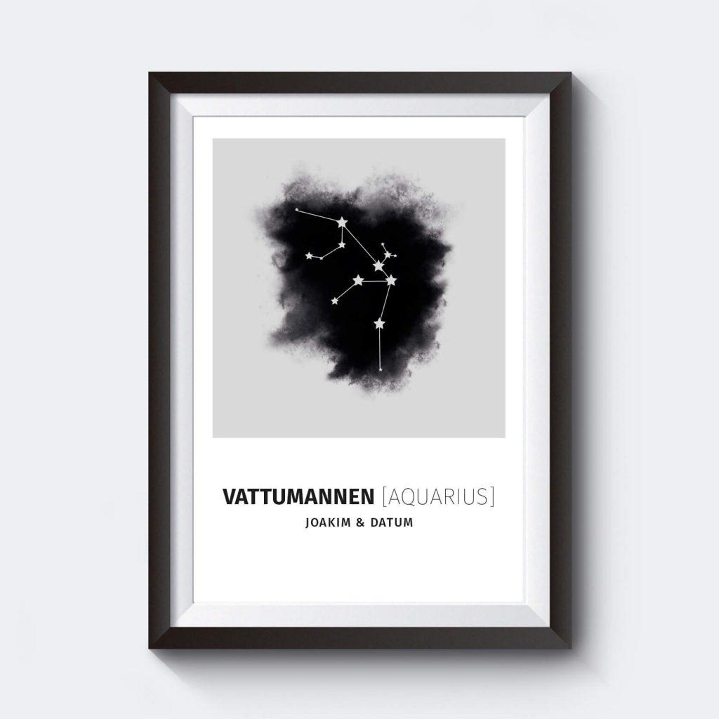 Personlig affisch stjärntecken vattumannen.