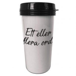Personlig termosmugg för kaffe eller te