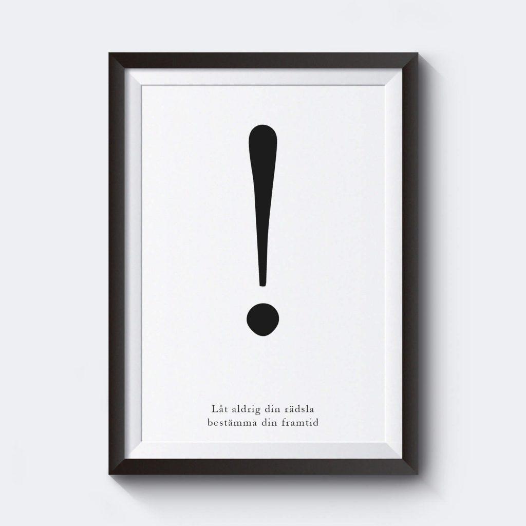 Utropstecken där du kan skriva in ett eget citat eller text.