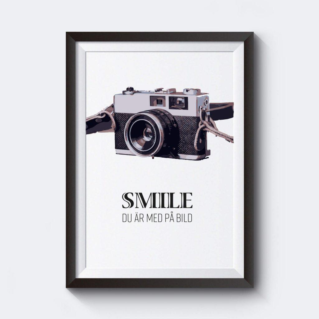 personlig-affisch-smile-kamera-skriv-in-egen-text