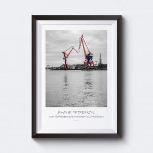Personlig tavla med Göteborgsmotiv