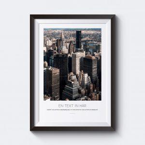 Personlig poster skyskrapor i New York