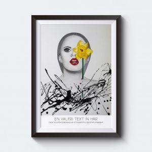 Gör en personlig tavla med en illustration av Nesrin.