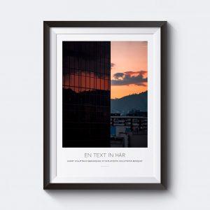 Gör en personlig tavla med egen text av den här affischen med en bild över Spanien.