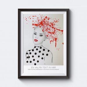 Gör en personlig affisch med en illustration av ett kvinnoansikte.