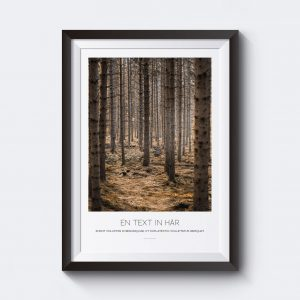 Personlig tavla med skogsmotiv.