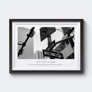 Motiv New York vägskylt personlig tavla.