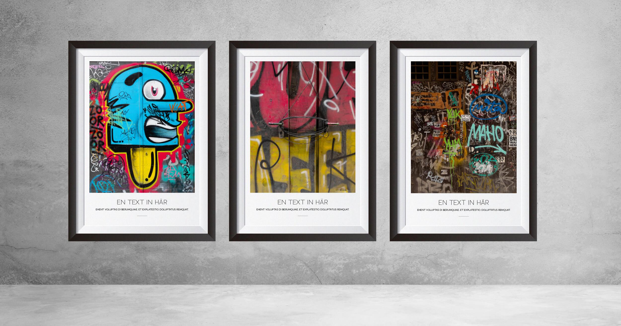 Gör egna personliga tavlor av klotter från Barcelona.