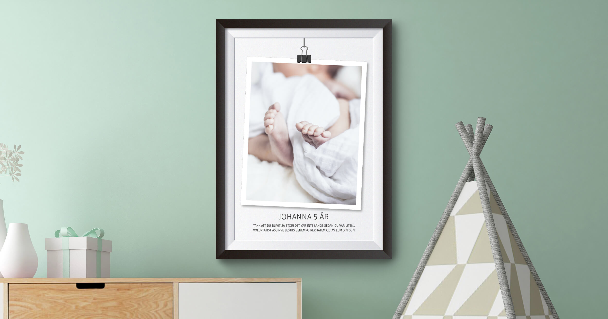 Gör en egen tavla med egen bild och text.
