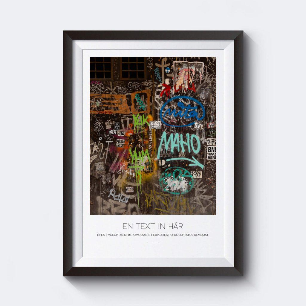 personlig tavla med egen text. Grafitti och gatukonst till din heminredning.