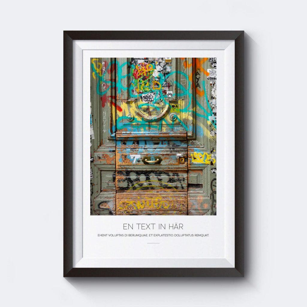 personlig-tavla-egen-text-barcelona-grafitti-dorr