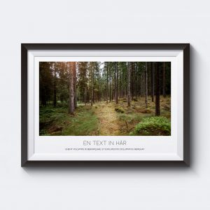 Gör en personlig tavla av den här postern med motiv av en grön skog.