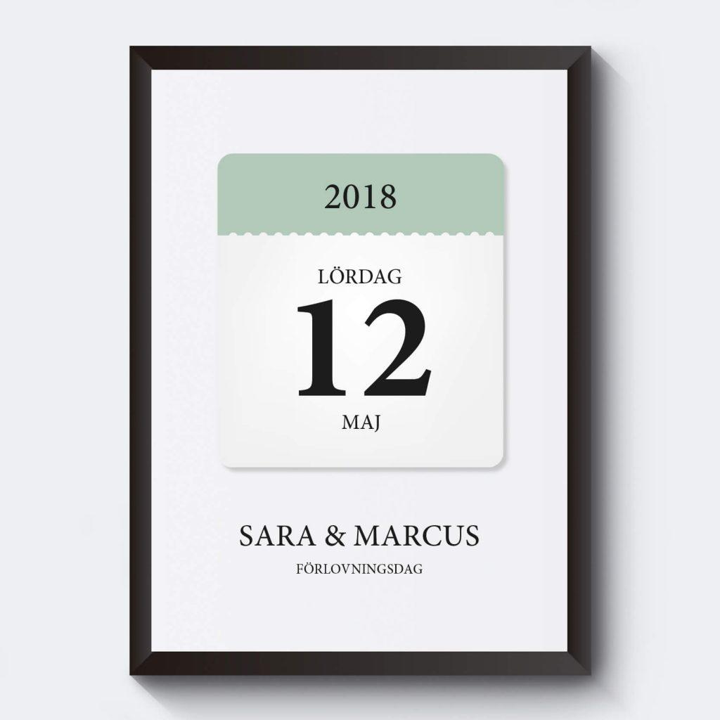 personlig-tavla-inredning-egen-text-datum- kalender
