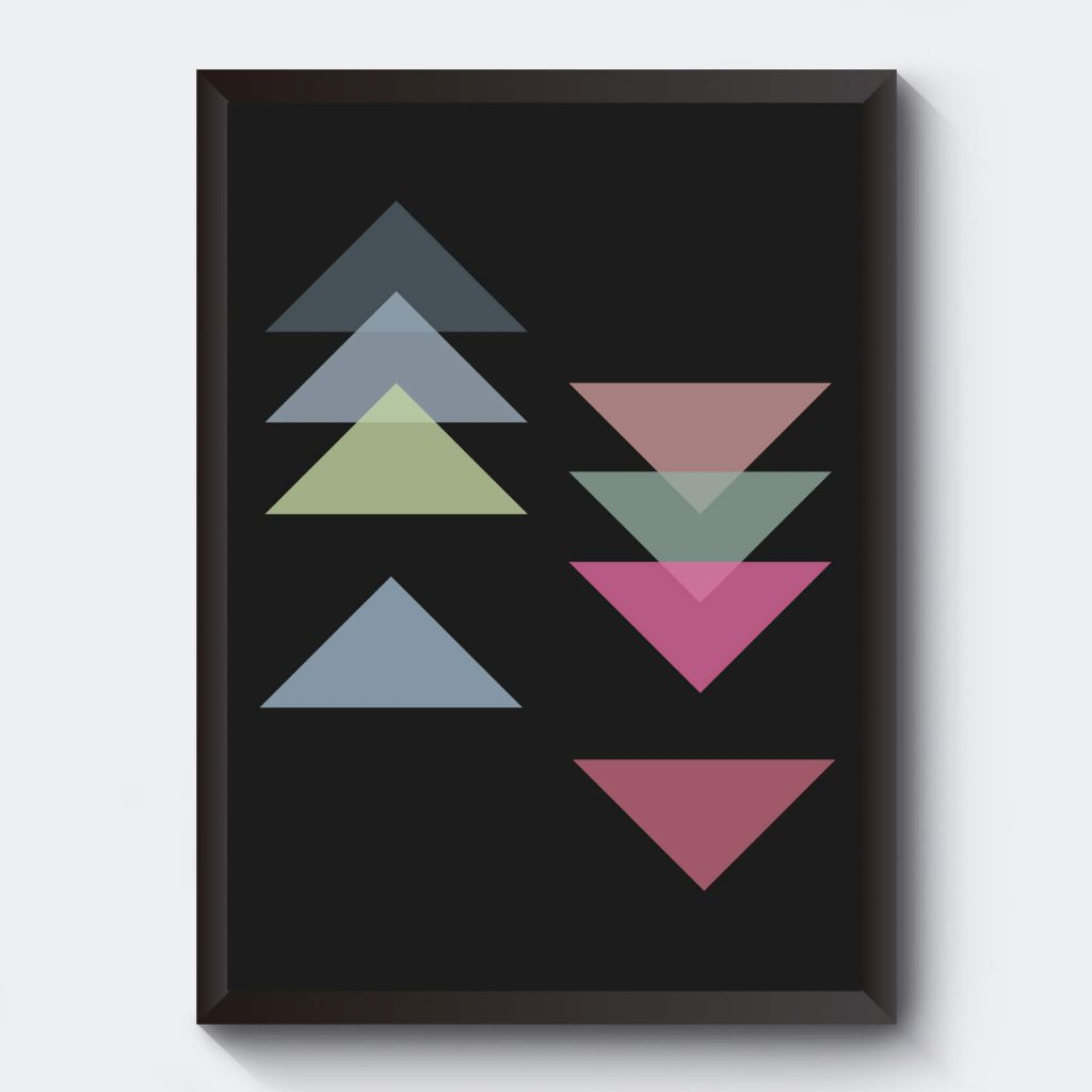 Poster med pilar svart