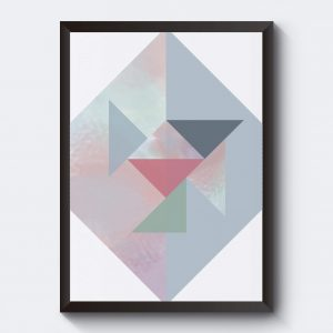 Affisch med trekanter. Abstrakt konst.