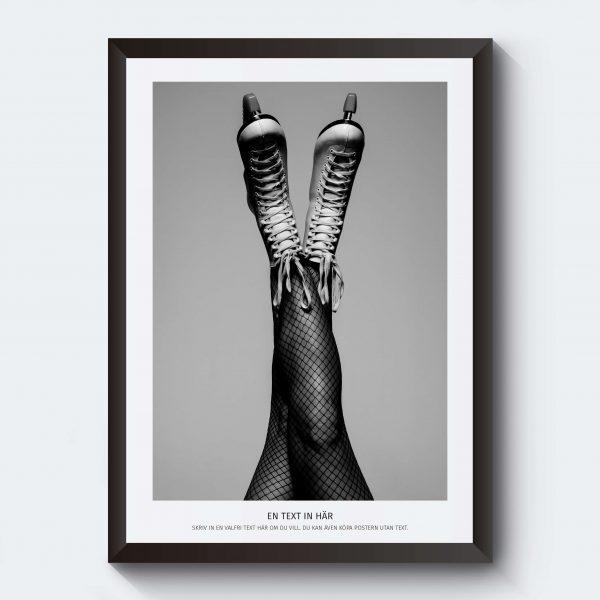 Svartvitt fotografi kvinnoben fotokonst