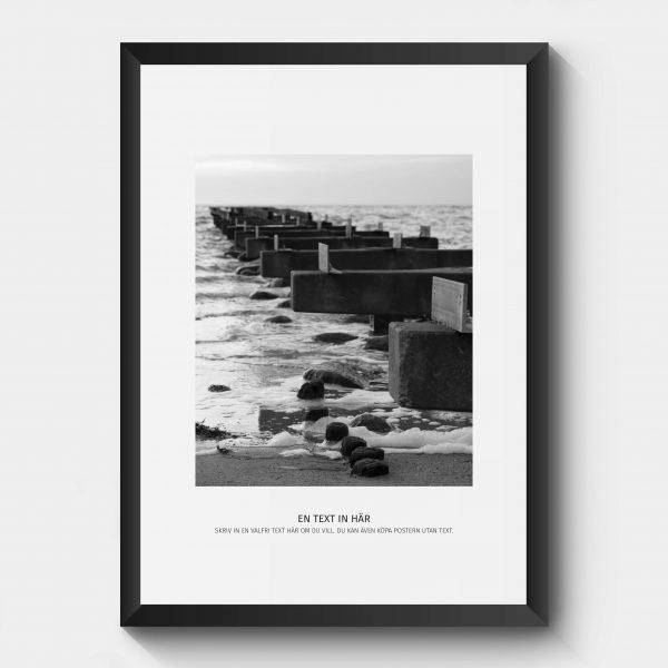 Personlig poster hav i svartvitt