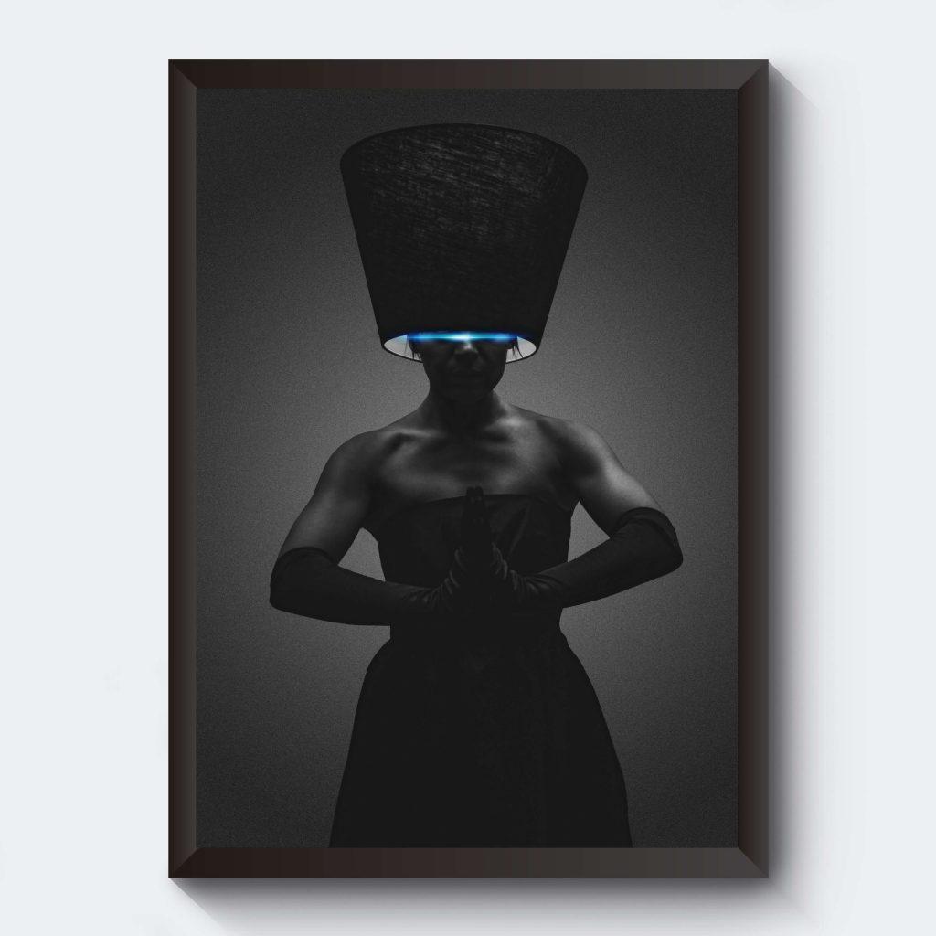 Poster kvinna svartvitt
