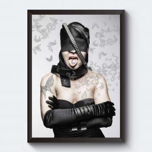 Poster fotografi kvinna svartvitt