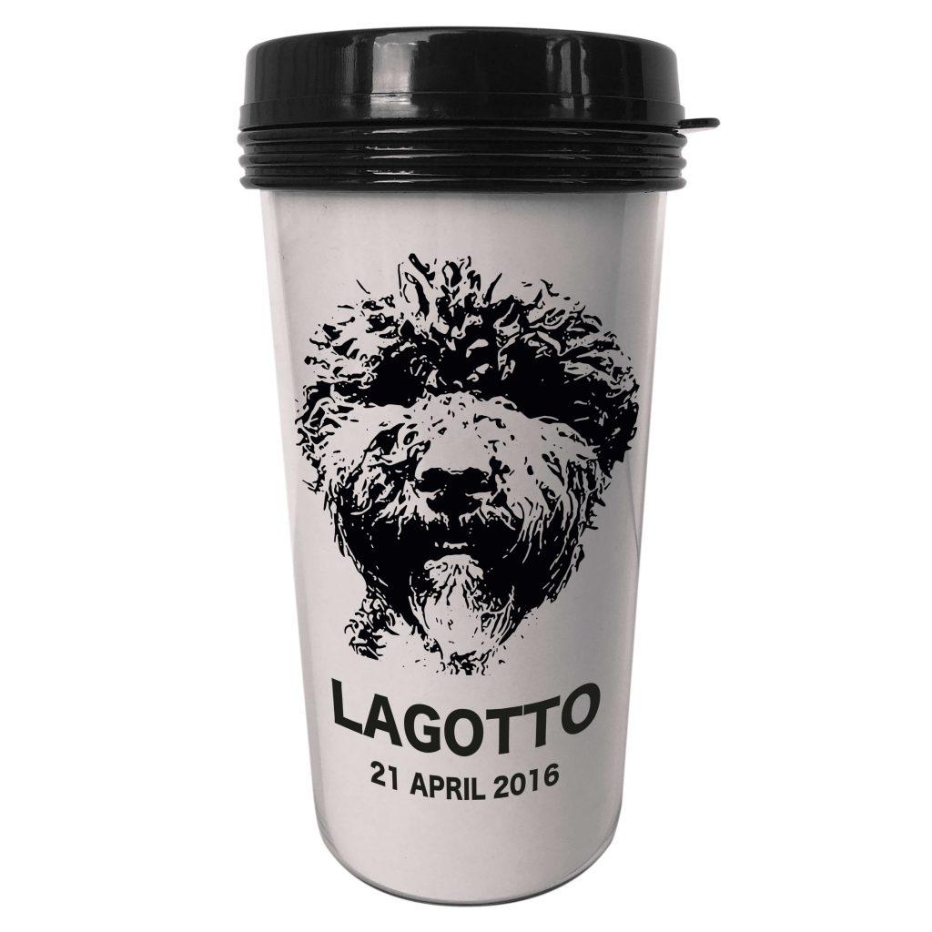 Personlig take away kaffetermos hund