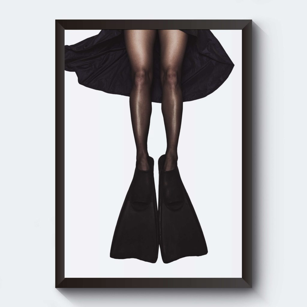 Poster kvinna sjöjungfru