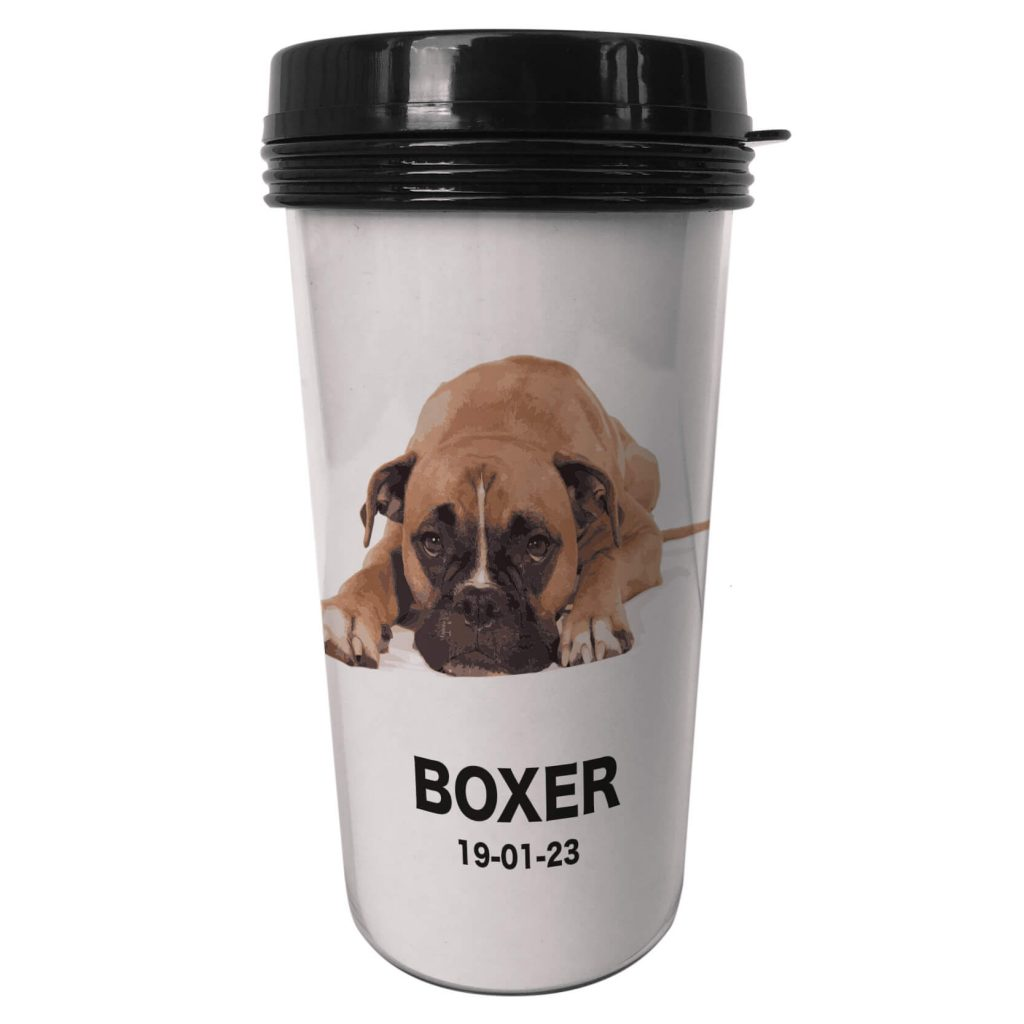 Take away kaffetermos boxer och egen text