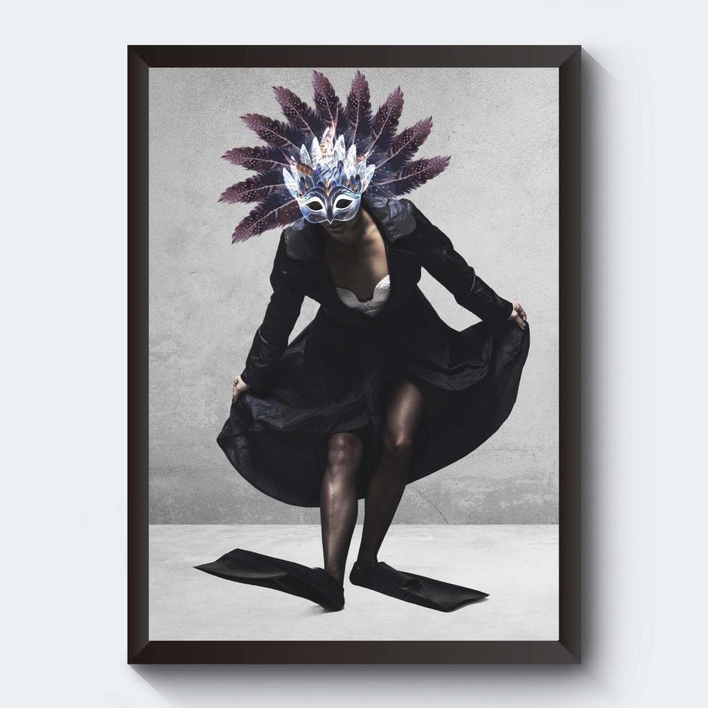 Fotokonst kvinna ankungen