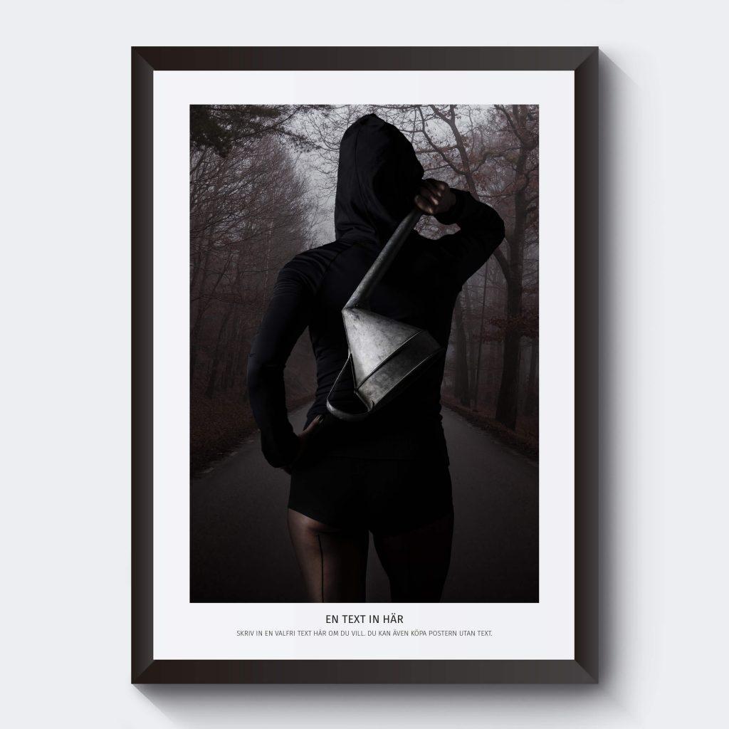 Personlig affisch med egen text.