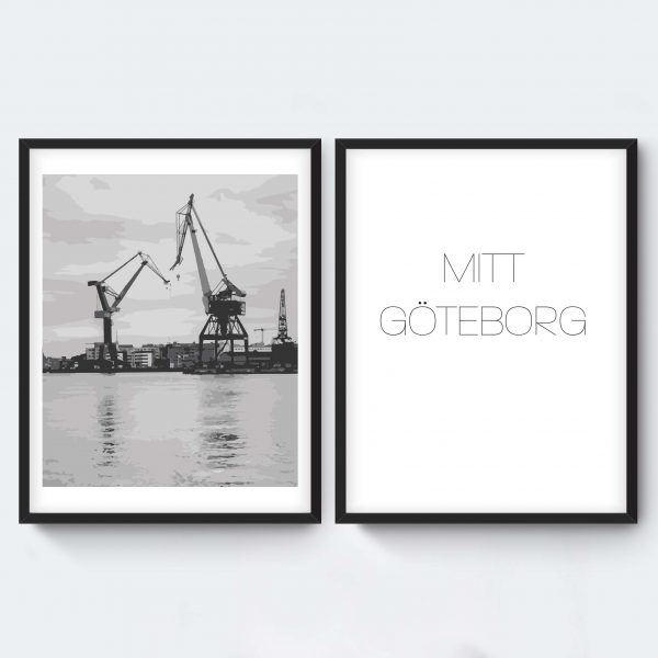 Personlig målad svartvit tavla Göteborg
