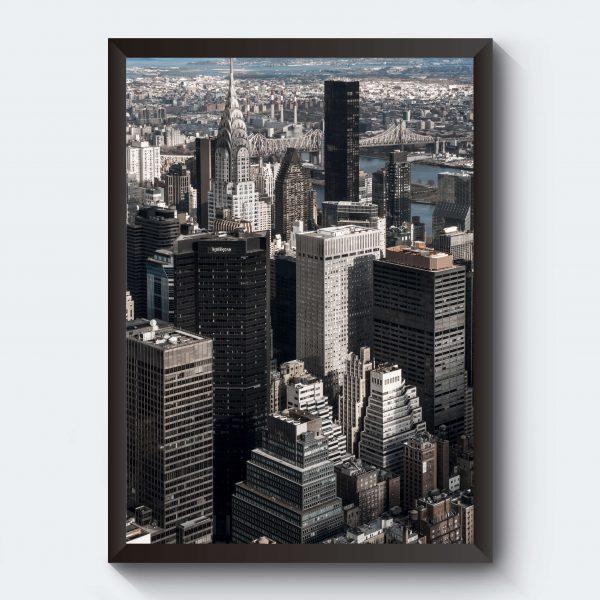 Personlig affisch med skyskrapor
