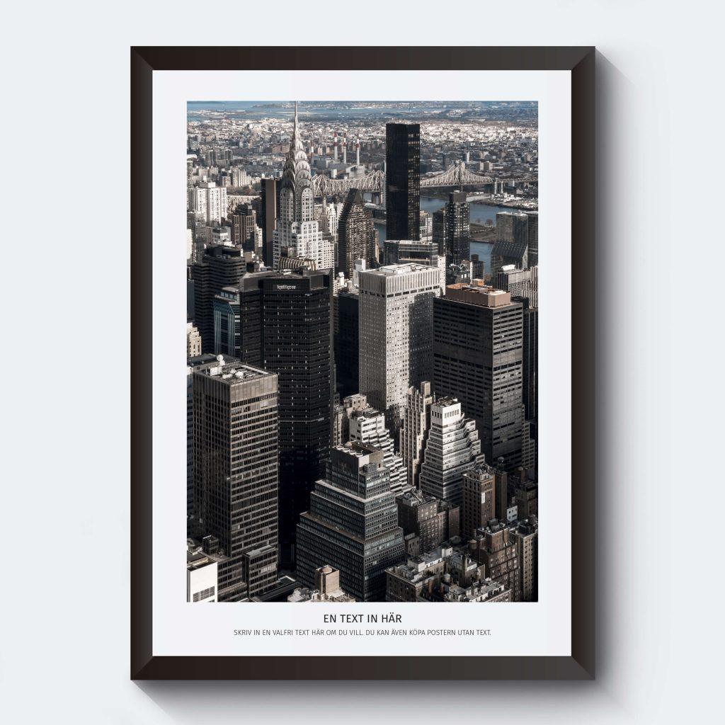 Personlig tavla med skyskrapor new york.