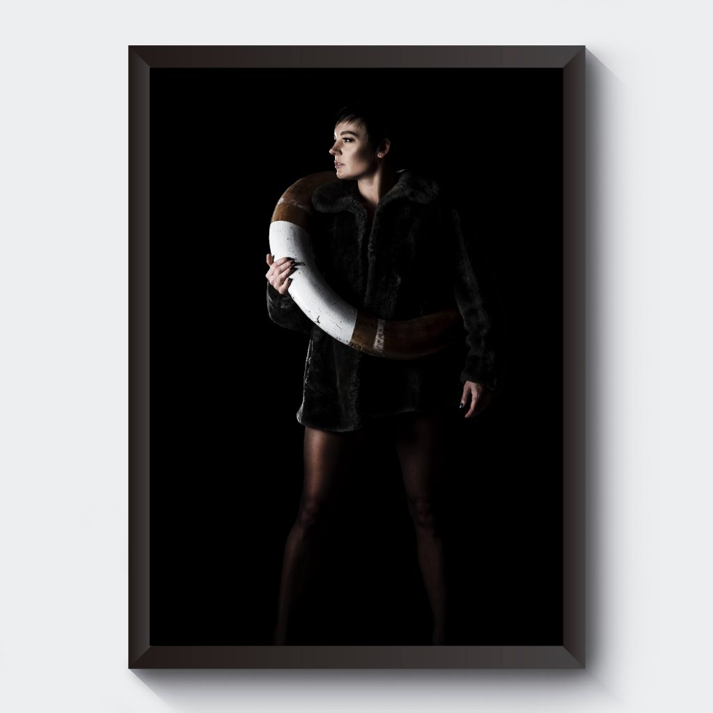 Poster kvinna livboj