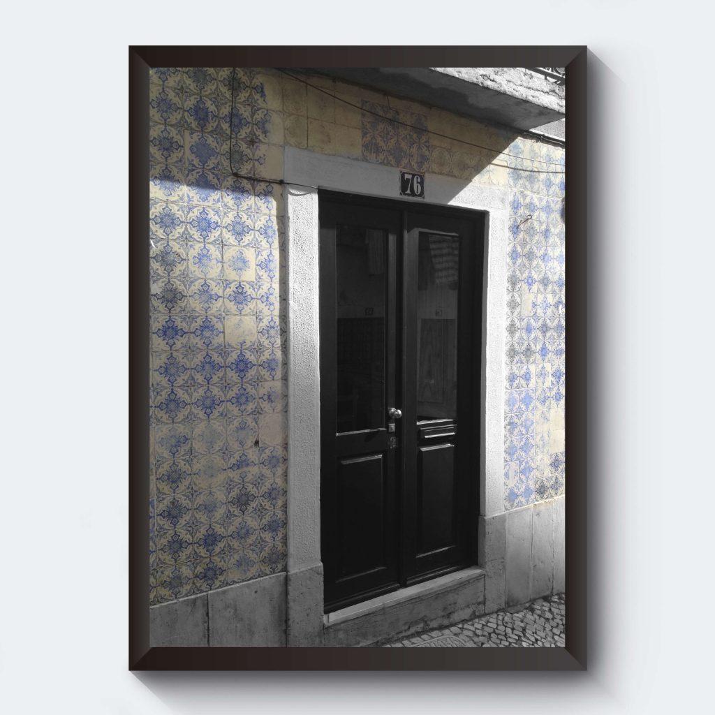 Fotokonst fotografi gammal dörr Portugal