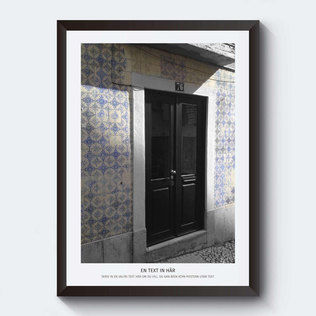 Fotokonst Portugal med egen text